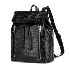 Omgnb Plaid Newly Black European and American Style Calfskin Leisure Backpacks for Girls And Boys|calfskin backpack