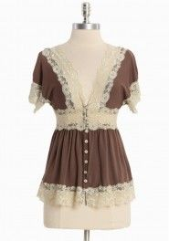 The waistband below your bust creates curves for your body with the chic lace there is then a sexy/ cute shirt