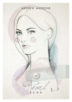 Miss June. Illustration by Elisa Mazzone