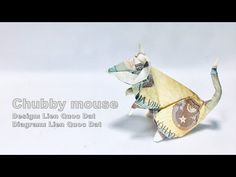 Model: Chubby mouse Design & diagram: Lien Quoc Dat Hi everyone, I hope you like my model I want to create more and more beautiful, simple models which every. Dollar Bill Origami, Money Origami, Origami Ball, Origami Paper, Origami Boxes, Origami Instructions, Origami Tutorial, Origami Flowers, Origami Hearts