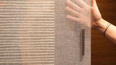 Porte coulissante tissu