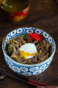 Yoshinoya Beef Bowl (Gyudon 牛丼)   Easy Japanese Recipes at JustOneCookbook.com