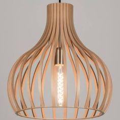 hanglamp hout - 100euro