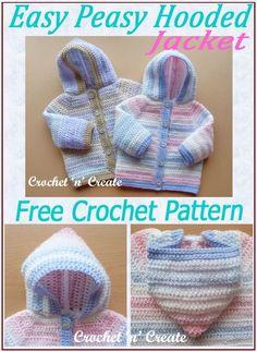Crochet Baby Sweaters, Crochet Baby Cardigan, Crochet Baby Clothes, Newborn Crochet, Crochet Baby Hats, Baby Knitting, Free Crochet, Booties Crochet, Easy Crochet