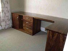 Walnut Corner Desk Office Desk, Corner Desk, Decor Ideas, Furniture, Tv, Home Decor, Homemade Home Decor, Desk Office, Desk