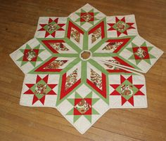 Quilt Block Tree Skirt ~ no pattern