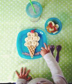 Callie's Ice Cream Breakfast! #kids #breakfastcreations #fun