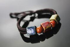 BOHO jewelry square ceramic candy bracelet by dermusensohn2000, $6.99