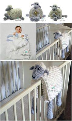 Crochet Animal Lovey Blanket Patterns Perfect For Baby – Değiştiriniz Crochet Unicorn Blanket, Crochet Sheep, Crochet Baby Boots, Crochet Blanket Patterns, Snuggle Blanket, Lovey Blanket, Crotchet Animals, Baby Dekor, Elephant Blanket