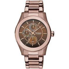 Relógio Feminino Technos, Caixa e Pulseira de Aço, Resistente à Água 50m -6P27CS/1M -Moda - Relógios - Walmart.com