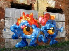 Street art in St. Petersburg, Russia by SY