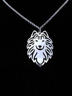 Samoyed necklace.