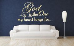 Verse Wall Decals - God Is The One (21.5w x 13t) Scripture Vinyl Wall Art – Bible Wall Quotes – Christian Quotes – Christian Wall Art – Religious Quotes – Christian Wall Quotes – Religious Wall Quotes – Religious Decals - Vinyl Wall Quotes – Decal Quotes – Quote Wall Decal – Decal Wall Decor – Vinyl Wall Art Quotes – Vinyl Lettering Quotes – Vinyl Decals ($23.00) via Etsy