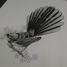 Fresh WTFDotworkTattoo Find Fresh from the Web Fantail for a client I…