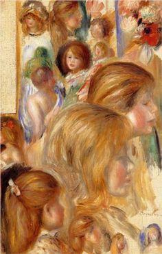 Children`s Heads - Pierre-Auguste Renoir