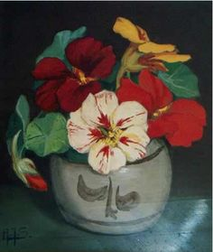 Alberta Johanna Meijer-Smetz (1893-1953) Nasturtium.  They always make me think of my Russian grandfather.  An edible flower beautiful in salads.