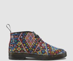 2 Eyelet Desert Boot Aztec weave Heel loop The sole is stitched and cemented to the base of the upper and to the insole Dr. Martens air-cushioned sole