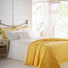 Daisy Border Standard Header Lined Curtains