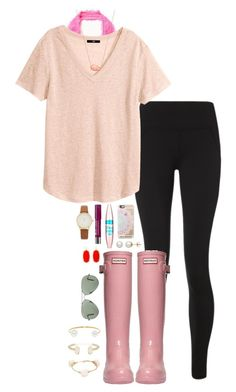 """happy valentines day everyone! "" by thatprepsterlibby ❤ liked on Polyvore featuring Free People, Sweaty Betty, H&M, Hunter, Maybelline, Honora, Casetify, Bourjois, Kate Spade and Kendra Scott"