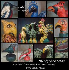 From PA Traditional Folk Art Carvings, Thank you to everyone who has supported me this year! Please have safe holidays with close family. Folk Art, Merry Christmas, June, Carving, Birds, Holidays, Traditional, Merry Little Christmas, Holidays Events