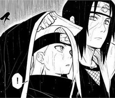 Itachi knows deidara is drama number 1 so covering his head will make sure that he doesn't get sick and cause Kakuzu to spend more money Naruto Kakashi, Anime Naruto, Otaku Anime, Naruto Cute, Naruto Shippuden Anime, Gaara, Manga Anime, Deidara Akatsuki, Sasunaru