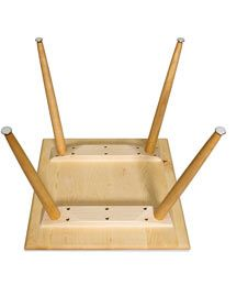 Flattener cleats to keep tables from bowing. Needed if pin legs are used