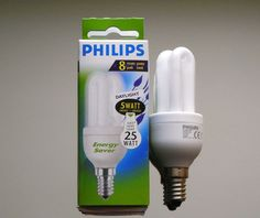 2 x Philips Tageslichtlampe Daylight Energiesparlampe Sparlampe 5W 5 W E14 6500K