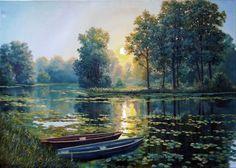 ArtMarket.Biz - Buy Original Art Online - Evening / Oil painting on canvas
