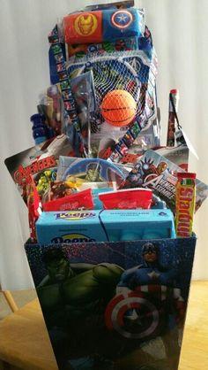 Diy avengers easter basket