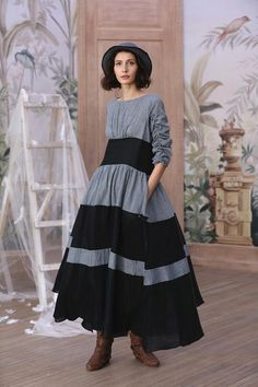 a97a2addd23ddd gray linen dress black dress maxi dress striped dress plus