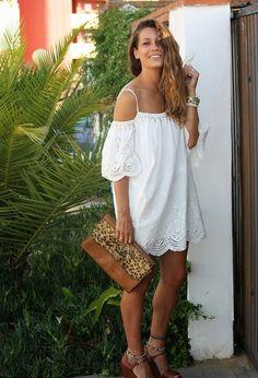 vestido, ombro de fora, vestido branco