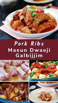 Maeun galbijjim (spicy braised ribs) is a popular braised dish in Korea. You can use beef short ribs, but it's more commonly made with pork ribs.
