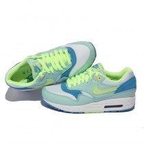 58,80 €  http://www.airmaxfemmein2014.com/nike-air-max-87-creme-vert-clair-bleu-clair-couleur-5najom