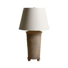 Chinese Ceramic Jar Lamp-Grey - Dering Hall