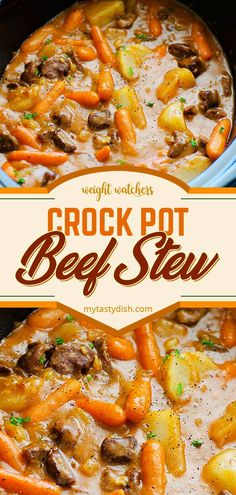 CROCK POT BEEF STEW Come with 6 weight watchers freestyle smart points weightwatchers crock_pot crockpot beef stew 502432902177598019 Best Crockpot Beef Stew, Healthy Crockpot Recipes, Slow Cooker Recipes, Weight Watcher Crockpot Recipes, Quick Beef Stew, Dinner Crockpot, Crockpot Ideas, Best Beef For Stew, Slowcooker Beef Stew
