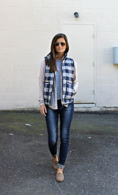 Wear this plaid vest this fall via @stylelist | http://aol.it/1r4V2Sq