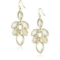"Amazon.com: Kendra Scott ""Timeless"" 14k Gold-Plated Jeanine Lily Earrings: Jewelry    Too big?"