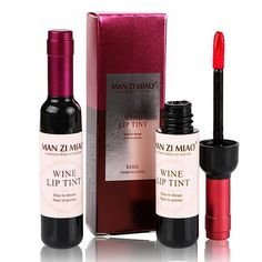 New Red Wine Bottle Lips Makeup Moisturizer Long Lasting Lip