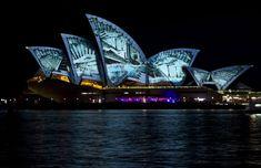 La Ópera de Sídney, un espectáculo de luz y color Opera House, Architecture Design, Opera Sidney, Around The Worlds, Building, Travel, Australia, Home, Military Deployment