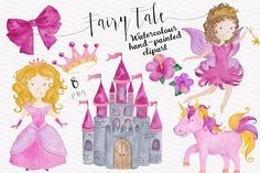 Fairytale Watercolor Collection by Tanya Kart on @creativemarket