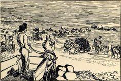 """Rural Irish people collecting seaweed as depicted in this sketch - """"Gathering Seaweed"""", by Jack B Yeats Jack B, Irish News, Irish People, Irish Culture, Western World, Irish Art, Seaweed, Art History, Storytelling"""
