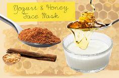 yogurt honey face mask #recipe #tutorial #how_to