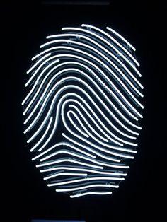 Finger print Neon by artist Helder Batista