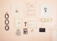 French Vintage Nursery Gallery Wall