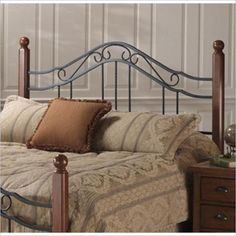 Hillsdale Madison Spindle Headboard in Antique Black-King