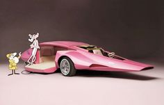 """""""Pink Panther"""" car created for the 1970s TV show, by designer Jay Ohrberg - Dark Roasted Blend"""