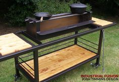 Visit the post for more. Outdoor Kitchen Plans, Outdoor Cooking, Welded Furniture, Industrial Furniture, Portable Bbq, Fire Pit Designs, Grill Design, Rocket Stoves, Backyard Playground