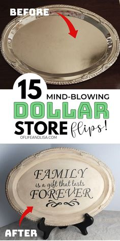 Woodworking Diy Tools If you're in a crafty mood then check out these wonderful dollar store home decor ideas you'll love!Woodworking Diy Tools If you're in a crafty mood then check out these wonderful dollar store home decor ideas you'll love! 15 Dollar Store, Dollar Store Hacks, Dollar Stores, Thrift Store Crafts, Dollar Store Mirror, Dollar Dollar, Craft Stores, Dollar Tree Decor, Dollar Tree Crafts