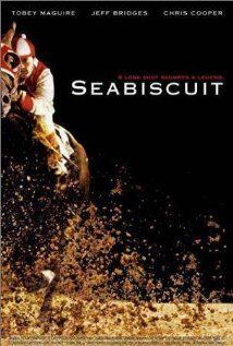 Seabiscuit:  True story of the undersized Depression-era racehorse whose victories lifted not only the spirits of the team behind it but also those of their nation.  (2003)