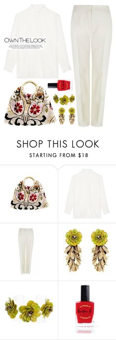 """""""All white with colorful accessories"""" by runway2street ❤ liked on Polyvore featuring VANINA, The 2nd Skin Co., Forest of Chintz and Lauren B. Beauty"""